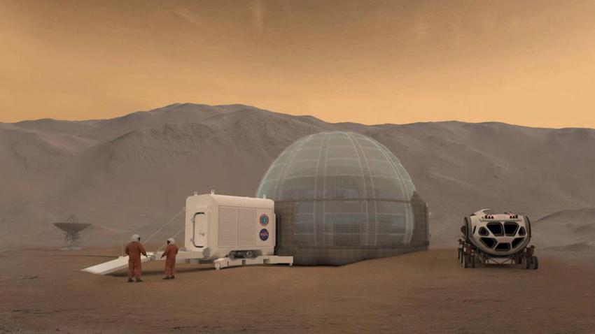 mars explorers might make concrete-like materials from their own blood and urine