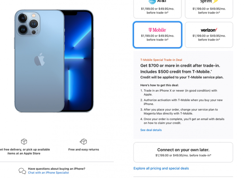 the ultimate t-mobile iphone 13 pro max hack could get you apple's highest-end phone for free