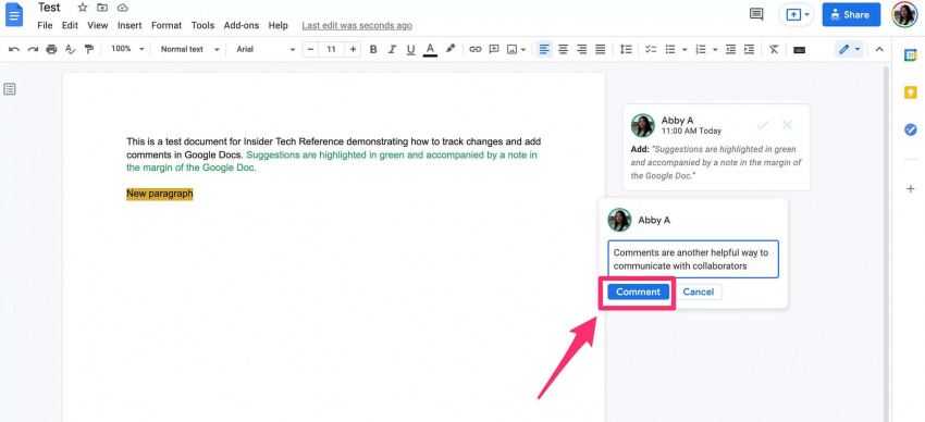 how to track changes and add comments in google docs using suggesting mode