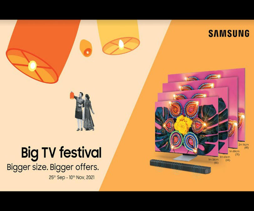 samsung announces 'big tv festival', 'home like never before' offers with assured gifts and cashback   details inside