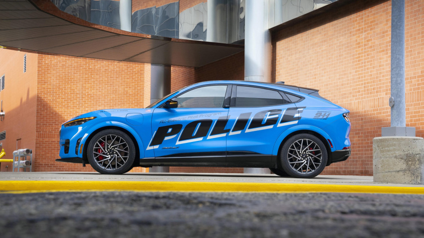 ford mustang mach-e passes michigan state police testing