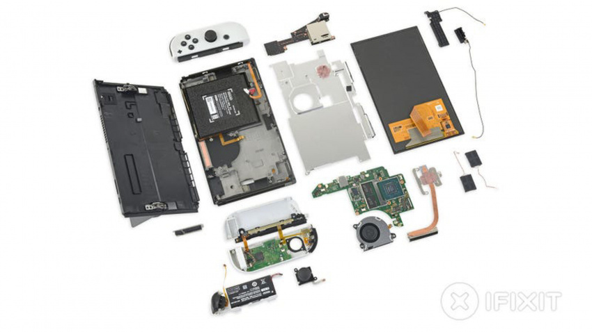the oled switch is pretty different on the inside