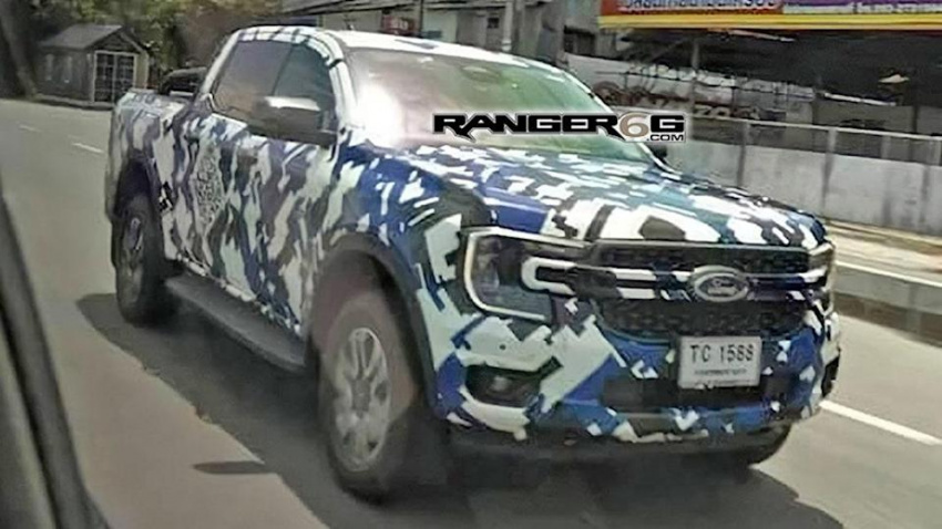 2023 ford ranger spied with a baby f-150-style front end