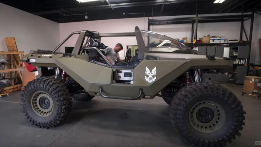 real halo warthog flexes with 1,000-hp
