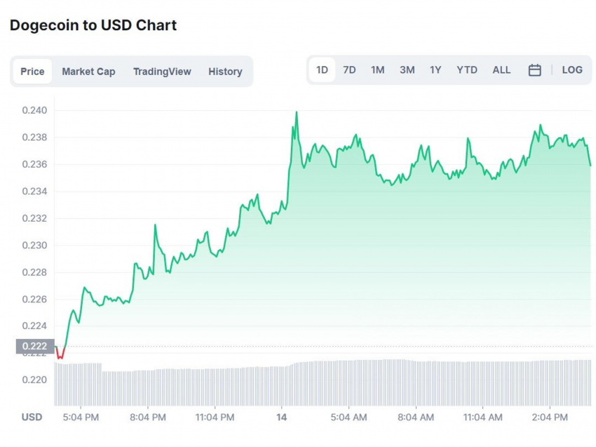 bitcoin price – live: btc surges to new five-month high, as elon musk spurs on dogecoin