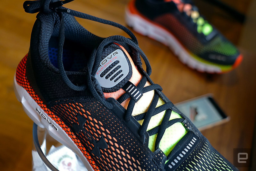 wearables, underarmour, uahovr, ua, sneakers, smartshoes, shoes, services, runningshoes, running, runner, run, mobile, mapmyrun, hovrinfinite, hovr, hands-on, gear, gait, footwear, entertainment, engadgetoutdoors2019