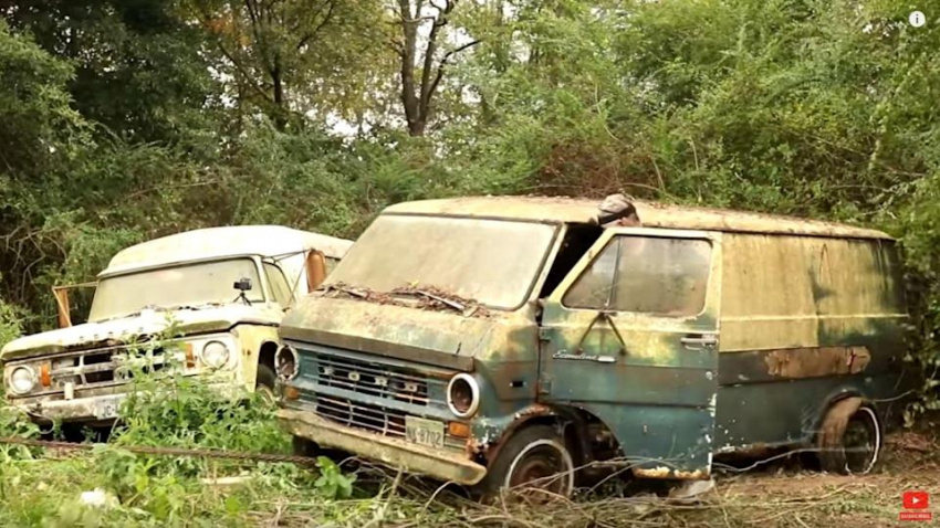 ford econoline rescued from nature